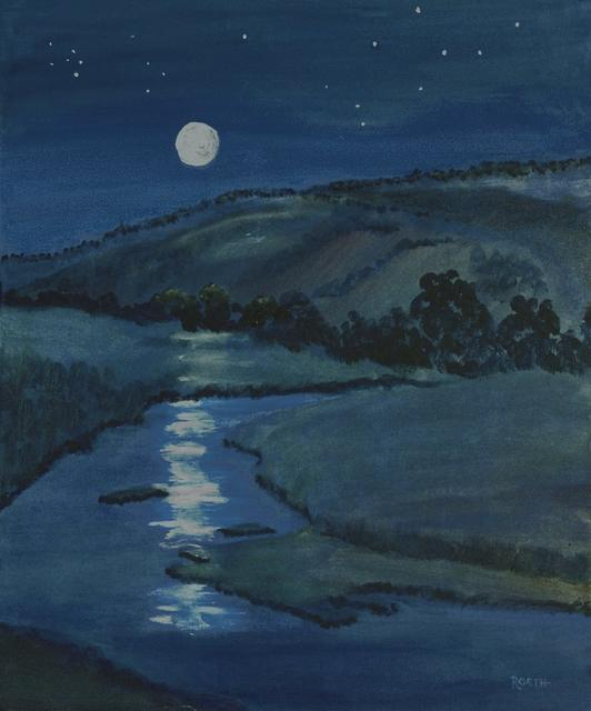 219  Moonlit Salinas River  24x20  Acrylic on Canvas