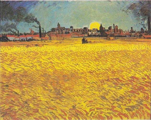 Van_Gogh_-_Weizenfeld_bei_Sonnenuntergang (2)